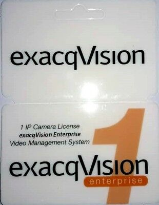Exacq IP Camera License, Enterprise, With 1 Year of Software Update EVENIP-01