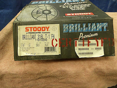 Stoody Brilliant 316L T-1 FH stainless steel welding wire flux cored 1/16 33 lb