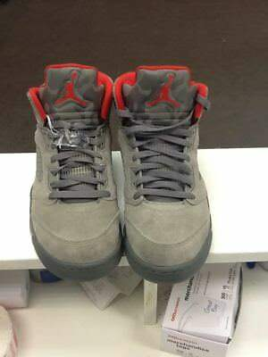 9ffdadc17955f5 NIKE AIR JORDAN 5 Retro Camo Dark Stucco University Red (136027-051 ...