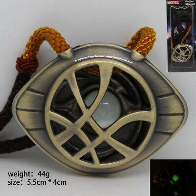 Luminous Dr Doctor Strange Pendant Eye of Agamotto GLOW IN THE DARK Necklace