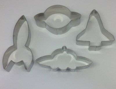 Space Themed Cookie/Fondant Cutters - 4 Assorted