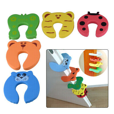 5x Baby Safety Foam Door Jammer Guard Finger Protector Stoppers Animal Designs