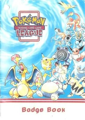 2 NEW Pokemon 1999 TCG League BADGE Book Rare Unused Collection lot