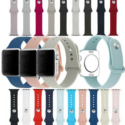 Band New Apple Watch 38/40/42/44MM Soft Silicone Sport Style iWatch Strap Wrist