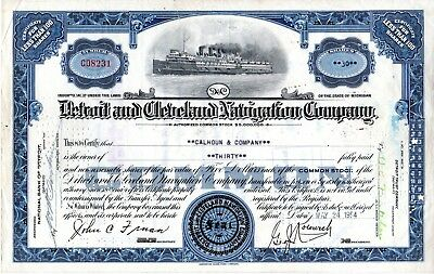 Fitz Simons & Connell Dredge & Dock Company of IL - SPECIMEN  Stock Certificate