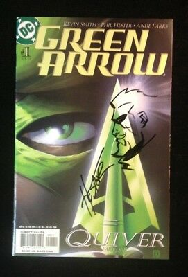 Green Arrow #1 NM W/Sketch Green Arrow Remark Signed By Phil Hester