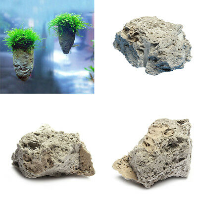 Floating Rock Suspended Stone Underwater Ornament For Aquarium Fish Tank S/ M/ L