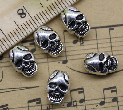 Wholesale Jewelry Making Skull Alloy Charms Beads Spacer Loose Beads DIY 11x8mm