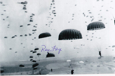 Ray Fary Signed 4x6 Inch WW2 80th AA 82nd AB Holland Airborne Paratrooper Bulge