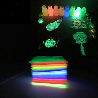 GLOW IN THE DARK Colorful Powder Luminescent Neon Painting Pigment Fluorescent