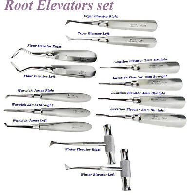 Dental Surgical Root Elevators Luxation,Flohr,Cryer Elavator surgery Instruments