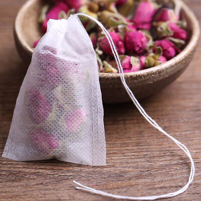 100pcs/Set 5.5x7cm  Empty Herb Loose Tea Bag W/String Heal Seal Filter Paper