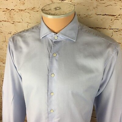 Vintage Hackett London Light Blue Dress Shirt Long Sleeve Sz XL Mens