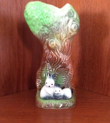 withernsea eastgate pottery Tree Trunk With Rabbits