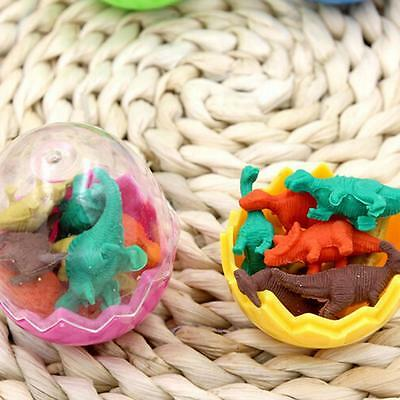 8X Dinosaurs Egg Pencil Rubber Eraser Students Office Stationery Kid Toy Fun