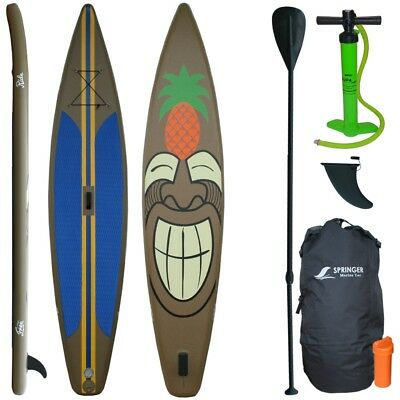 "12'6"" Race SUP Stand up paddle board 380cm Surfboard 15cm dick aufblasbar, Zub."