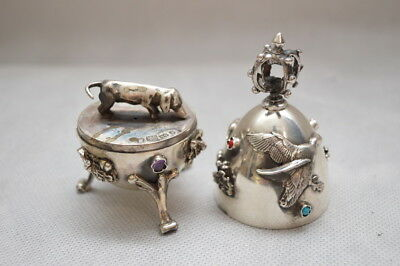 SILVER openwork EGG - OPENED - DACHSHUND - HUNTER VERY OLD
