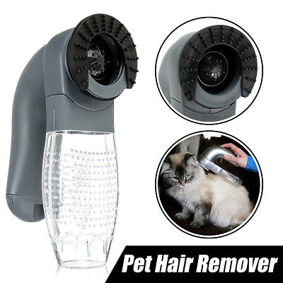 Electric Cat Dog Pet Hair Remover Shedding Grooming Brush Comb Vacuum Cleaner