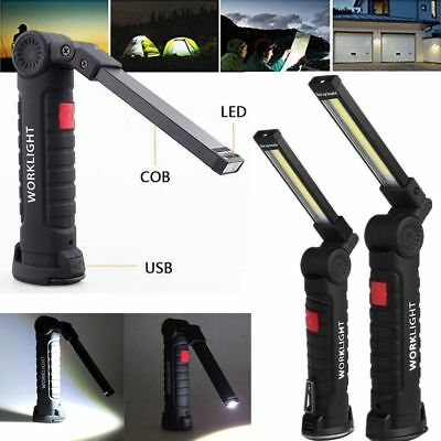 LED Rechargeable Magnetic Torch Flexible Inspection Lamp Cordless Work Light WOW