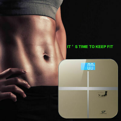 180KG Digital LCD Glass Bathroom Scale Body Weight Watchers High Precision