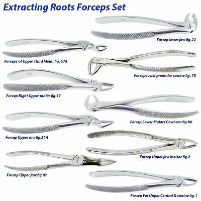 Surgical Root Tooth Extraction Forceps for Oral Surgery kit Dental instruments