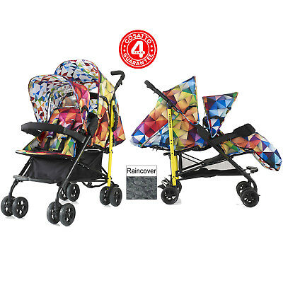 New Cosatto Spectroluxe Shuffle Tandem Stroller Double Pushchair Buggy