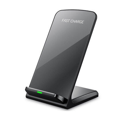For Samsung Galaxy S8/ S9+ Plus Wireless Qi Fast Charger Charging Stand Dock Pad