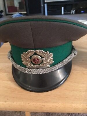 Vintage Russian Visor Hat, Military? Made In East Germany