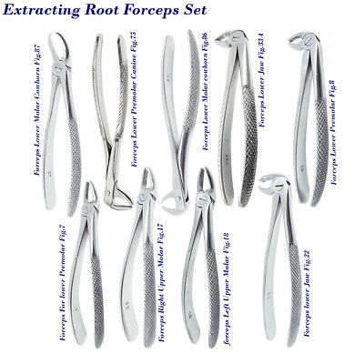 Tooth Extraction Forceps set Dental Surgical luxating instruments Oral Surgery