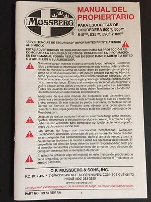 mossberg flex 500 590 owners manual factory new ships free rh picclick com Shockwave Mossberg 590 Mossberg 590 Military