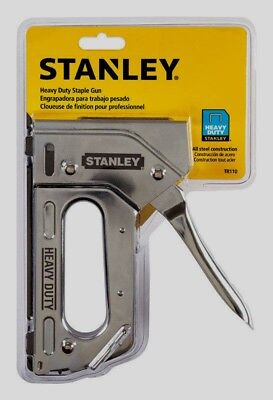 New Stanley Heavy Duty Staple Gun TR110 Chrome Compatible Staples TRA700, T50