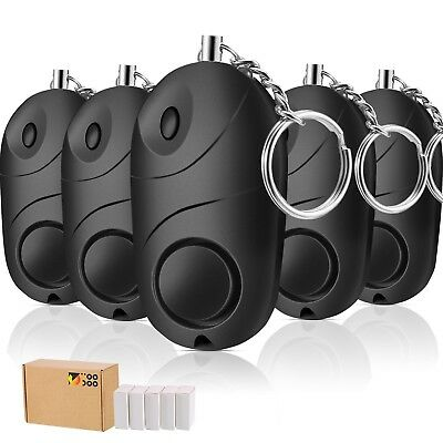 TOODOO 5 Pack Safesound Personal Alarm, 130 db Emergency Safety Key Chain,
