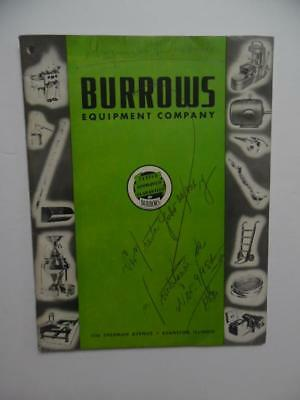 1950 BURROWS EQUIPMENT COMPANY Grain Elevator Feed Seed Plant Catalog Vintage VG