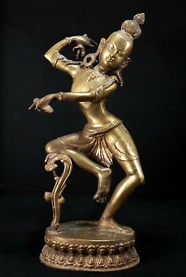 18th Century Nepal Cast Bronze Dancing Dakini Figure