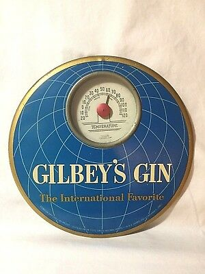 Gilbey's Gin - The International Favorite London Dry Gin Thermometer Vintage