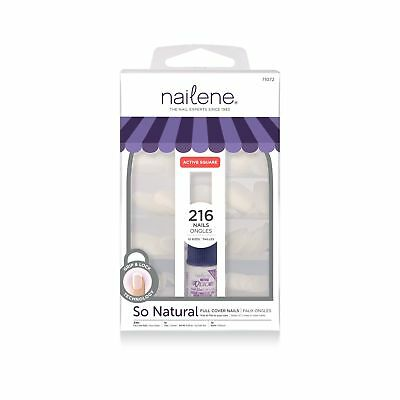 Nailene Nails Full Cover Short Square includes 200 Nails .
