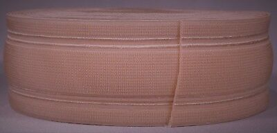 """512g roll of 2"""" inch light pink woven elastic (dirty old stock)"""