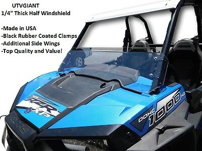 Auto Parts & Accessories RZR 1000 turbo XP1K XP HALF WINDSHIELD WITH CLAMPS #AC-HW-15-RZR