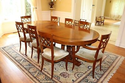 COLOMBO MOBILI Dining Set: Dining Table and 8 Sidechairs, Excellent Condition