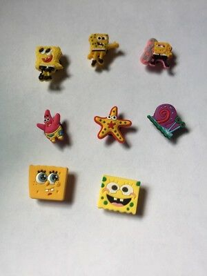 SpongeBob Pvc shoe charm lot of 8 USA Seller New Without Tags + Free Shipping
