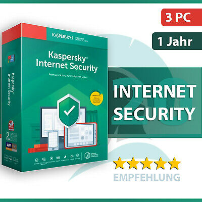 Kaspersky Internet Security 2019 / 2020 | 3 PC (Geräte) 1 Jahr | Download
