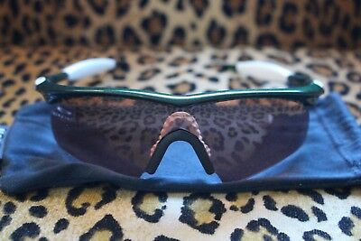 6de32a75f14 Authentic Vintage Oakley M Frame-Team Dark Green-White-Vr28 Iridium Hybrid  Lens