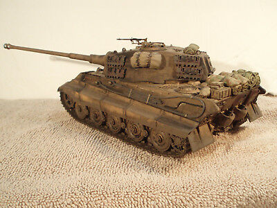 Built 1 35 King Tiger 2 German Panzer Ww 2 Tank Professionally Built