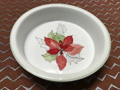 RARE Block Spal Poinsettia Mary Goertzen BOTTLE COASTER? Brûlée ramekin