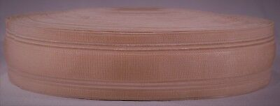 "1145g roll of 2"" inch light pink woven elastic (dirty old stock & segmented)"