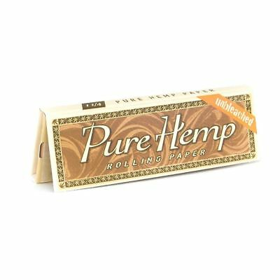 Pure Hemp Regular Rolling Papers (Unbleached) -3 Packs-