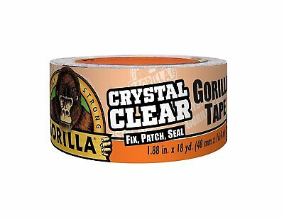 Gorilla Glue 6060002 Crystal Clear Duct Tape, 1.88 inch x 18Yd, clear