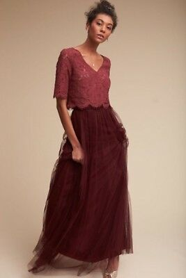 dff66d0993f NEW BHLDN JENNY Yoo Libby Top Size Small Ivory Lace Bridesmaid ...