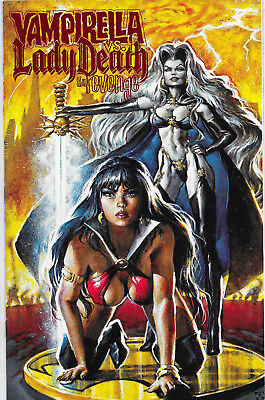 Vampirella Monthly #23 Lady Death Red Foil Variant Harris Comics VF/NM