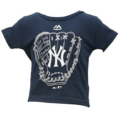 New York Yankees Official MLB Majestic Baby Infant Size T-Shirt New with Tags